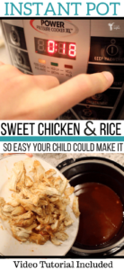 Instant Pot Sweet Chicken and Rice