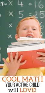 Cool math your active kid will LOVE. Math games, fun math,