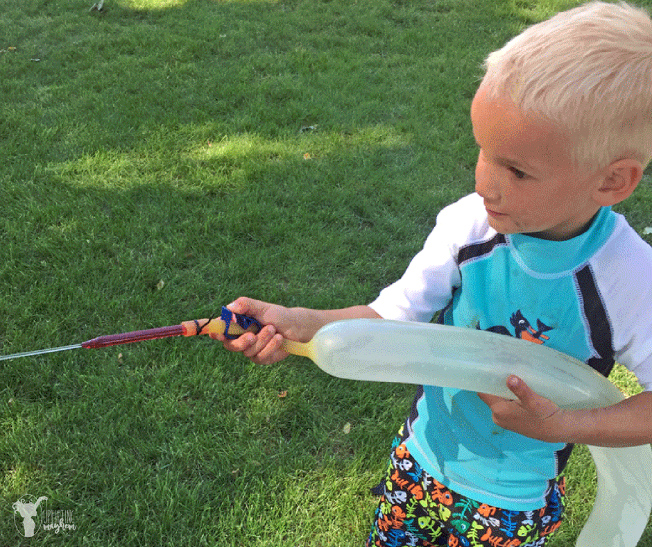 The ultimate summer activity with this DIY water weenie squirt gun!
