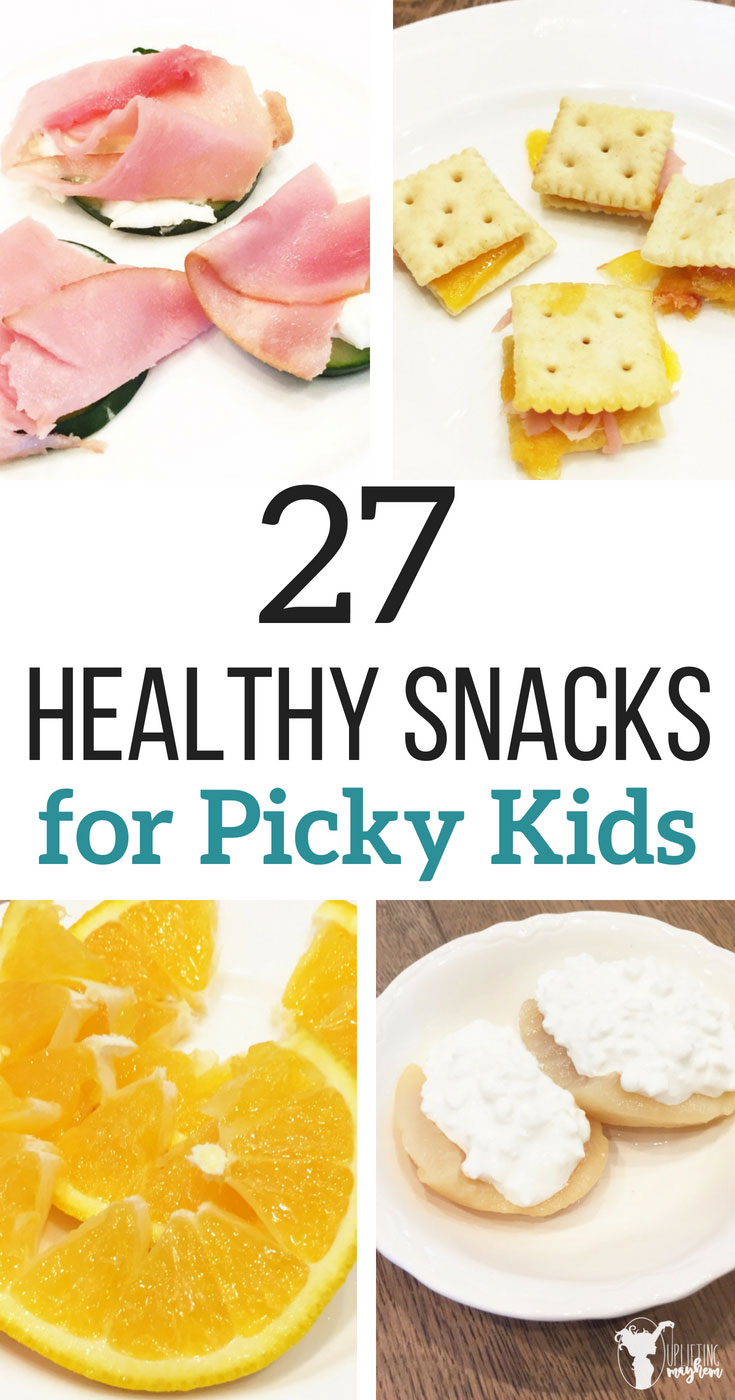 Healthy snacks for picky kids! So many yummy snack ideas! Perfect for lunches, after school snacks and even bedtime snacks! They are easy to make too!