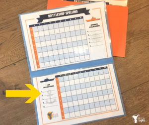 Instructions on how to play spelling battleship and a free printable you can use over and over again!