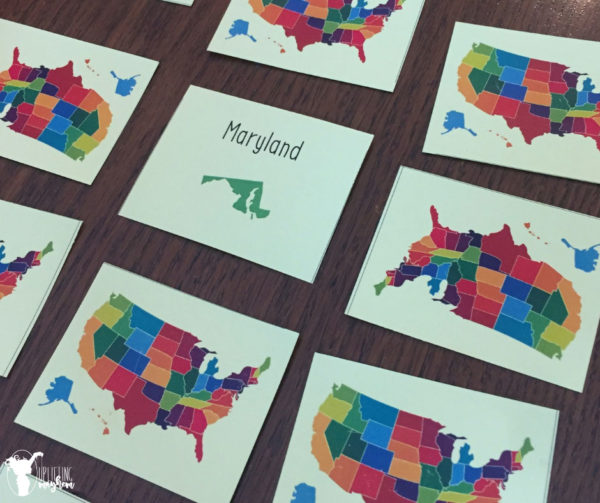 States and Capitals Matching Game - Uplifting Mayhem