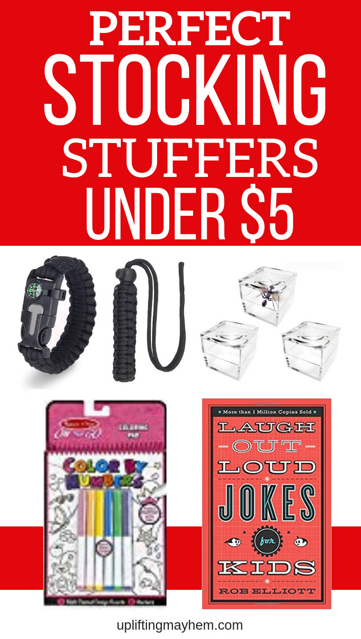 Fun and perfect stocking stuffers under $5. Fresh new ideas to put in your kids stocking without breaking the bank. On a budget this Christmas season? Here are great ideas for stocking stuffers under $5.
