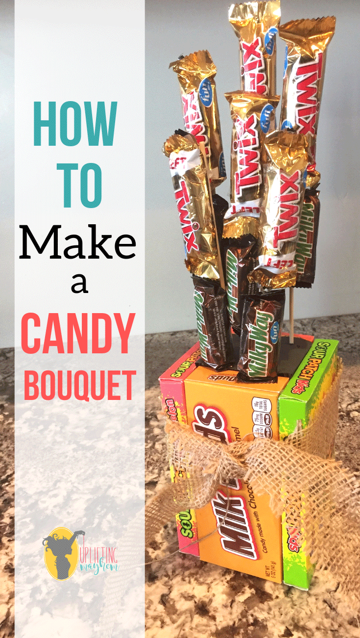 Create your own Twix candy bouquet! Mix up the candy bars and create your own gift that is cute and affordable!