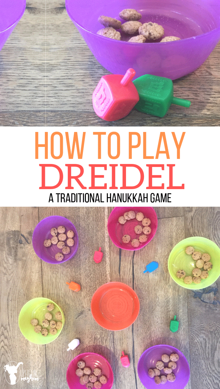 How to play Dreidel printable instructions. Dreidel is a traditional Hanukkah game that has been played for hundreds of years and enjoyed by kids and adults all around the world!!