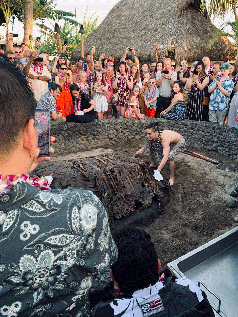 The Unveiling of the luau pig