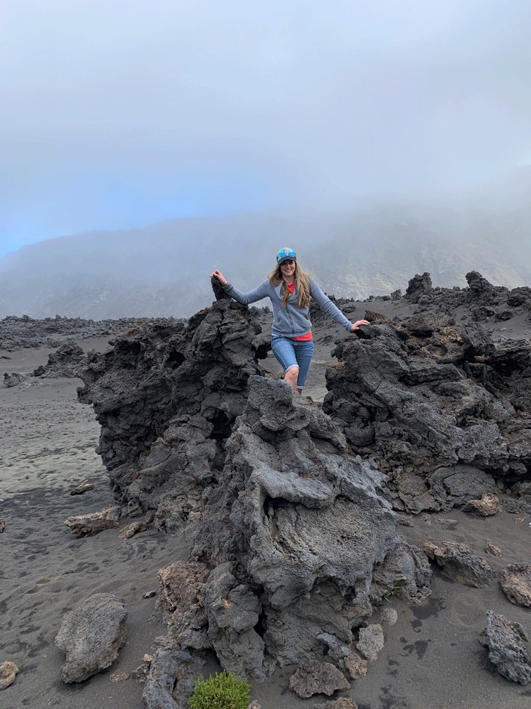 Volcanic Rock at the bottom of Mt Haleakala crater