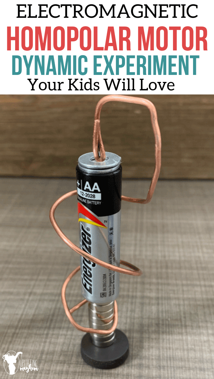 Build your own homopolar motor! A perfect experiment for kids to learn about electromagnetism! It is easy and has lots of room for creative thinking!!