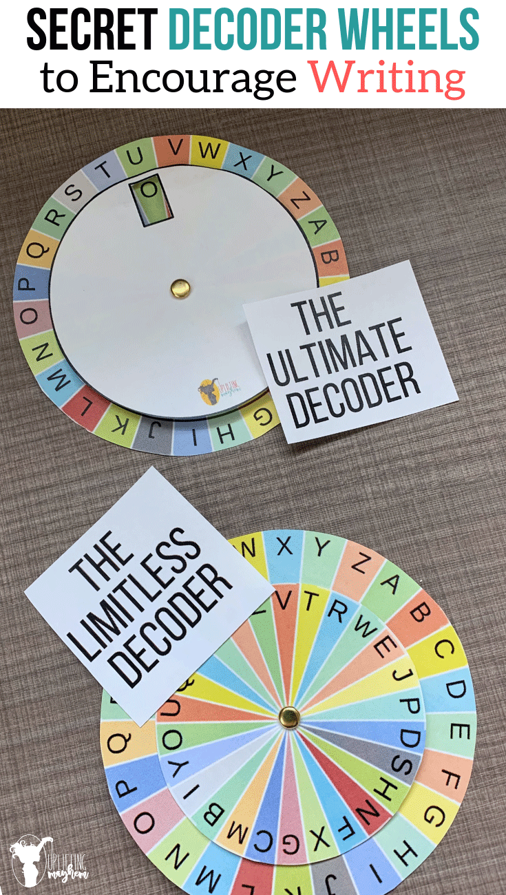 photograph about Printable Decoder Wheel called Magic formula Decoder Wheels Toward Stimulate Producing - Uplifting Mayhem