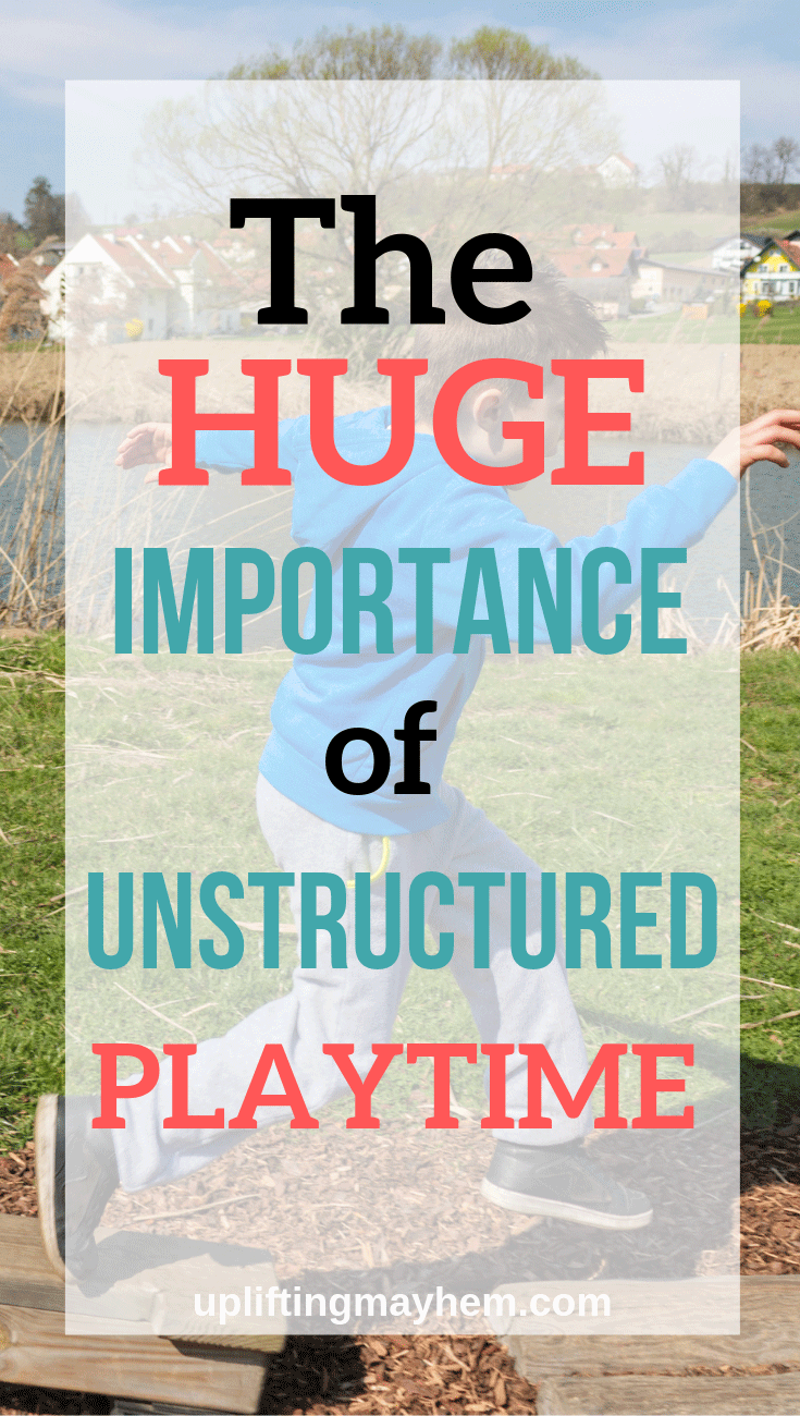 Unstructured playtime is essential for kids to discover their creativity and independent thinking! Leaders are born when unstructured play is a main part of their childhood.