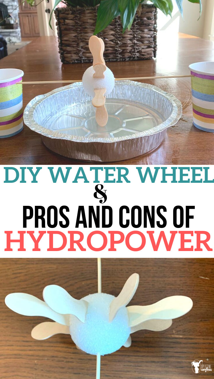 The pros and cons of hydropower can be discussed as your kids play and experiment with make their own water wheel to see how hydropower works first hand! Hands on activity to discover the water wheel and how it can create power. Is it a good or a bad thing! Discover the pros and cons of hydropower!