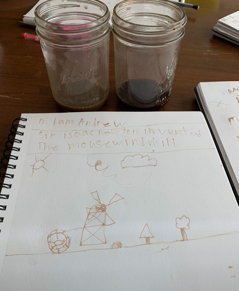 Simple method to make your own ink that your kids will LOVE to experiment with. Make writing fun with this easy ink your kids could make!!