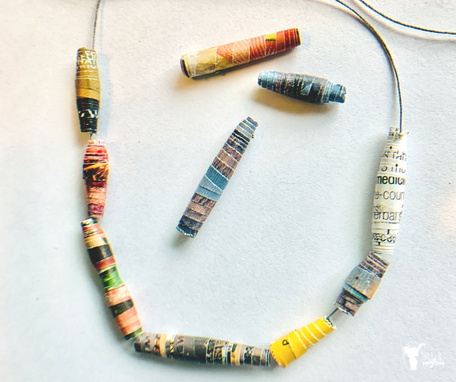 Create and make your own African magazine beads! Gather your old magazines and recycle them into cool beads that your kids can make!