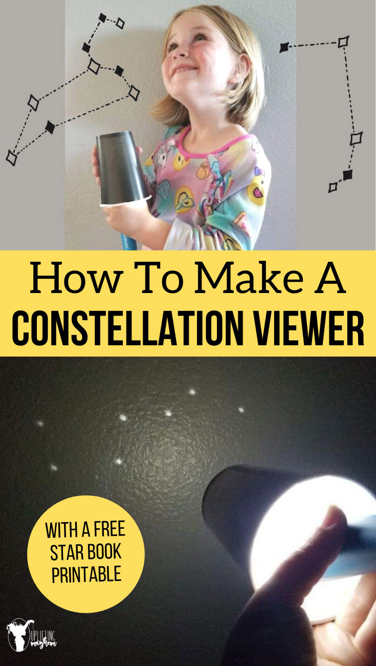 Explore the stars by making this fun and easy constellation viewer! Receive a FREE Star Book as well that you can print out for each child and keep track of each star constellation you discover!