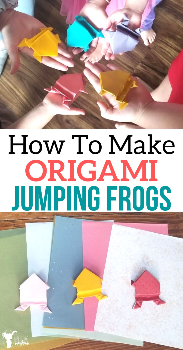 Origami jumping frogs are a perfect activity while learning about Japanese culture or about frogs themselves!