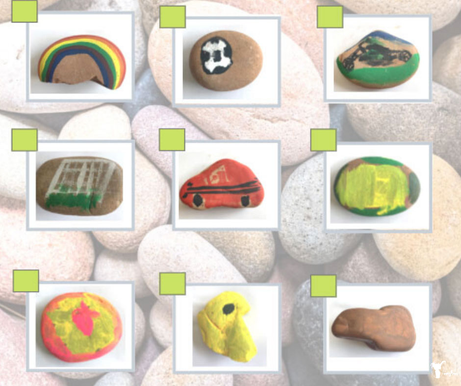 Create your own rock scavenger hunt! So many possibilities that will keep your kids busy for hours! Fun scavenger hunt to find different rocks in nature