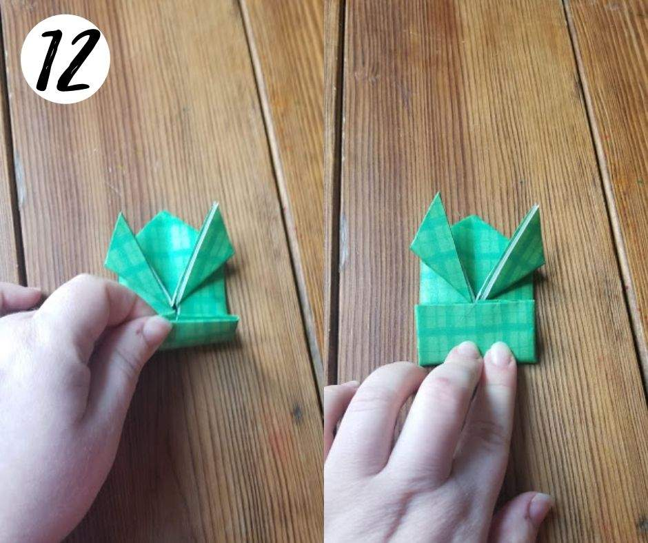 paper folding frogs, step 12