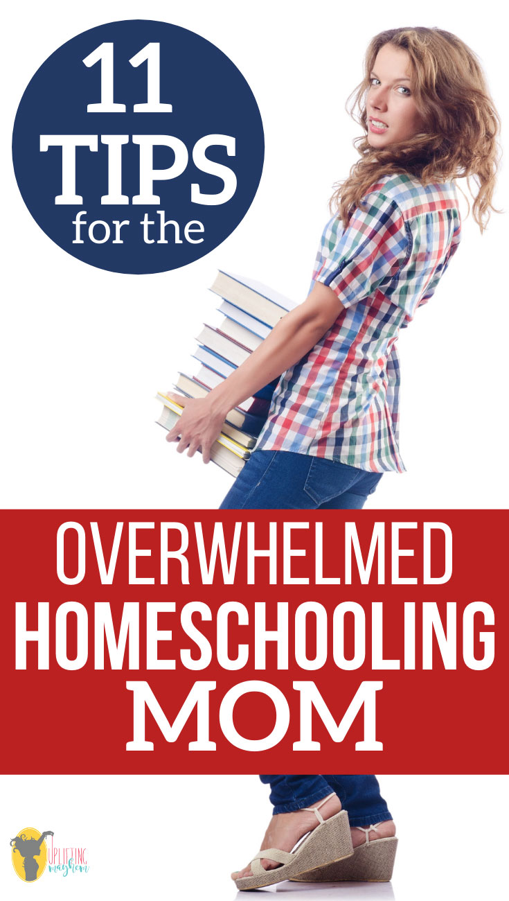 Homeschooling creates every kind of emotion that is possible. This post focuses on the overwhelmed homeschooling mom. Here are 11 tips to help overwhelmed homeschooling moms to find their niche and find joy in their homeschooling day!