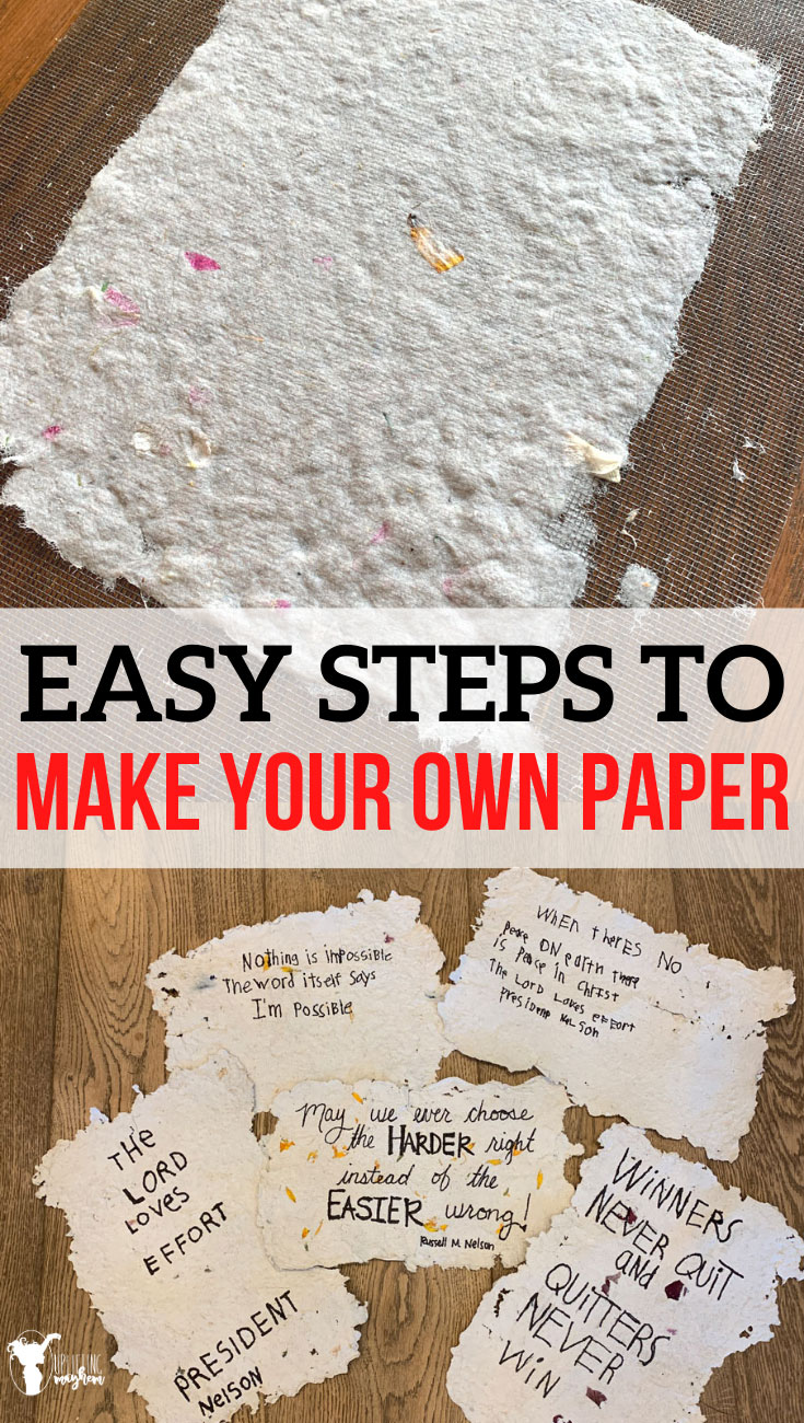 Easy steps to make your own paper! This is such a fun activity that you can do with your kids! Be creative and test different materials to see what works best. Learn how ancient China invented paper.