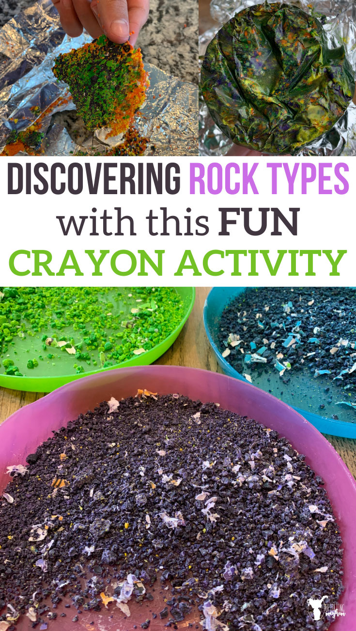 Learn about the 3 rock types with this simple and fun crayon activity. Learn by creating your own type of rock with crayons!!