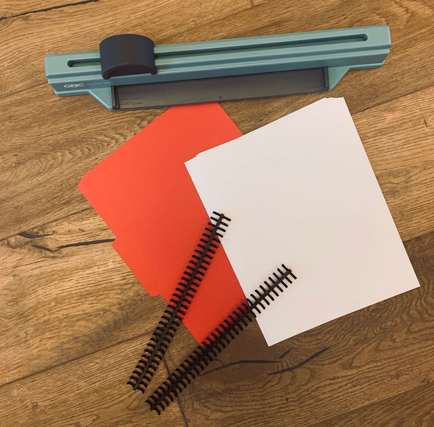 Create endless amounts of projects with these easy to make homemade blank page notebooks. Make it the size you need, and or take away whenever as well. Perfect for any project you do with your kids.